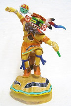 "Hopi 13.25"" HILLILI GUARD Kachina Doll Hand Carved Katsina Sculpture David Roy - $2,800.00"