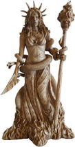 HECATE STATUE Greek Goddess   Mythology  Statuette Figurine 10 Inches Tall - $49.99
