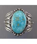 Navajo Native American SterlingSilver Blue ROYSTON TURQUOISE Cuff Bracel... - $1,699.00
