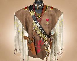 Creek Indian Buckskin Leather Warrior Shirt War... - $1,550.00