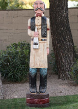 6' SALOONKEEPER Cigar Store Sculpture 6 ft Carving by Frank Gallagher *S... - $1,565.00