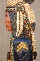 6' Cigar Store Indian Sergeant Blue Coat Calvary 6 ft Wood by Frank Gall... - $1,565.00