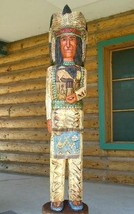Gallagher 6' CIGAR STORE WOODEN INDIAN Chief Sculpture Native American C... - $1,565.00