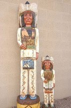 Gallagher 6' & 3' CIGAR STORE WOODEN INDIAN Chief Sculptures Native Made... - $2,550.00