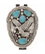 Navajo Turquoise Sterling Silver Eagle Mens Bol... - $289.00