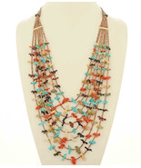 Native American WATERFALL FETISH NECKLACE 8 Str... - $2,779.00