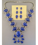 Navajo Squash Blossom Necklace Earrings Sterlin... - $3,859.00