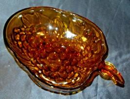 Amber Glass Grape Cluster Shape Large Centerpiece Bowl AA19-CD0045 Vintage image 2