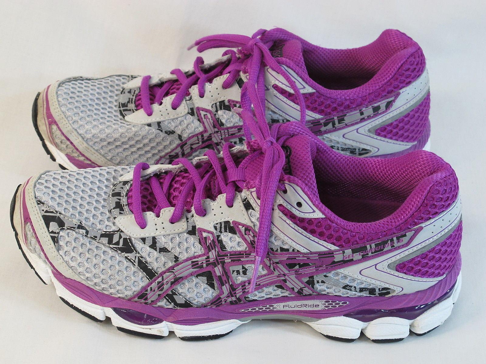 Womens ASICS GEL Cumulus 16 Lite Show Running Shoes Grey