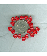 20 Bright Red 8 mm Valentines Day I Love You Cz... - $5.00