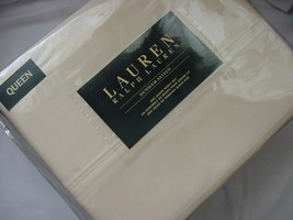 Ralph Lauren Dunham Daffodil Pale Yellow Sheet Set Queen - $86.00