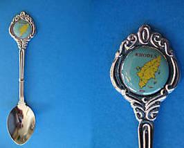 RHODES GREECE Souvenir Collector Spoon Collectible GREEK ISLAND  - $6.95