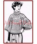 Beautiful Knitted Poncho Pattern * Sizes 10-14 & 16-18 - $5.99