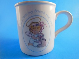 Vintage Angel with Bunny Rabbit Mug Cup American Greetings Korea - $6.23