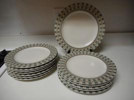 Sakura Debbie Mumm Stoneware Set of 10 Dinner Plates & 1 Chop Plate Winter Birds - $128.69