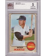 Mickey Mantle 1968 Topps #280 BVG 5 EX - $169.00