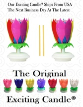 2 Rainbow Amazing Lotus Flower Happy Birthday Candle  Original EXCITING ... - $14.99