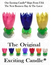 1 Pink + 1 Blue + 1 Yellow  Amazing Lotus Flower Happy Birthday EXCITING... - $20.99