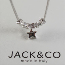 925 RHODIUM SILVER JACK&CO NECKLACE WITH SHINY STAR STARLET MADE IN ITALY image 4