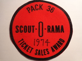 SCOUT-O-RAMA 1974 TICKET SALES AWARD CLOTH PATC... - $5.00