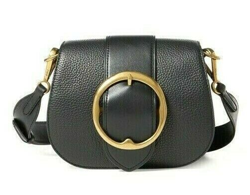 Primary image for Polo Ralph Lauren Lennox Wide Strap Crossbody Shoulder Bag Italian Leather $398