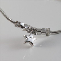 925 RHODIUM SILVER JACK&CO NECKLACE WITH SHINY STAR STARLET MADE IN ITALY image 3