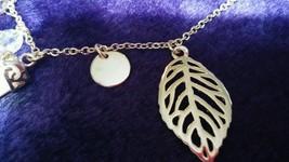 Faux Ivory Tusk Charm Necklace Lucky Goldtone Adjustable image 4