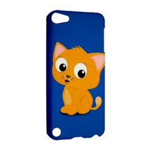 NEW IPOD 5 TOUCH CASE HARD SHELL COVER Cat Orange - $21.99