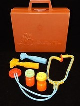 Fisher Price 1977 Dark Brown Medical Kit # 936  - $18.79