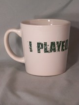 """I PLAYED. I WON. Washington's Lottery LARGE coffee cup approx 4"""" tall - $5.10"""