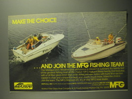 1979 MFG Morrison 20 Boats Ad - Make the choice ..and join the MFG Fishi... - $14.99