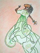 "ACEO Figures and Portraits African American Print ""Dance 1"" -: rdoward ... - $5.94"
