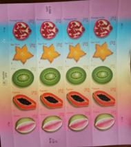 2008 MNH (USPS) .27 TROPICAL FRUITS Stamp Sheet 20  - $12.95