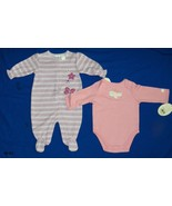 First Moments Newborn 0-3 mo. Onesie and Sleeper NWT - $15.99