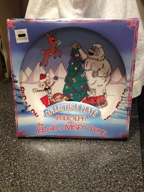 Rudolph The Island of Misfit Toys Cookies for Santa Collectible Plate New in Box image 3