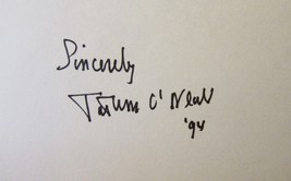 TATUM O'NEAL AUTOGRAPHED SIGNED 3x5 INDEX CARD w/COA LITTLE DARLINGS PAP... - $14.99