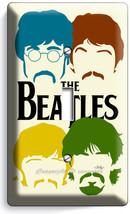 The Beatles Pop Art John George Paul Ringo Single Light Switch Cover Home Decor - $8.09