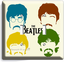 The Beatles Pop Art John George Paul Ringo Double Light Switch Cover Home Decor - $9.71
