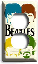 THE BEATLES POP ART JOHN GEORGE PAUL RINGO DUPLEX OUTLETS COVER ROOM HOM... - $8.09