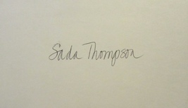 SADA THOMPSON AUTOGRAPHED HAND SIGNED 3x5 INDEX CARD w/COA POLLACK FAMILY - $14.99