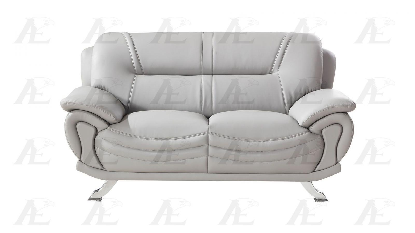 american eagle ae388 gr gray faux leather sofa and loveseat set 2pcs