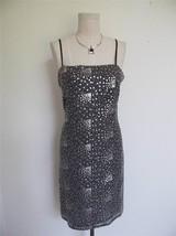 NWT Andrea Polizzi Rex Lester Sequin Cocktail Dress 6 S Black Silver $34... - $26.17