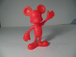 1970's Red Mickey Mouse Figurine by Louis Marx ... - $5.86