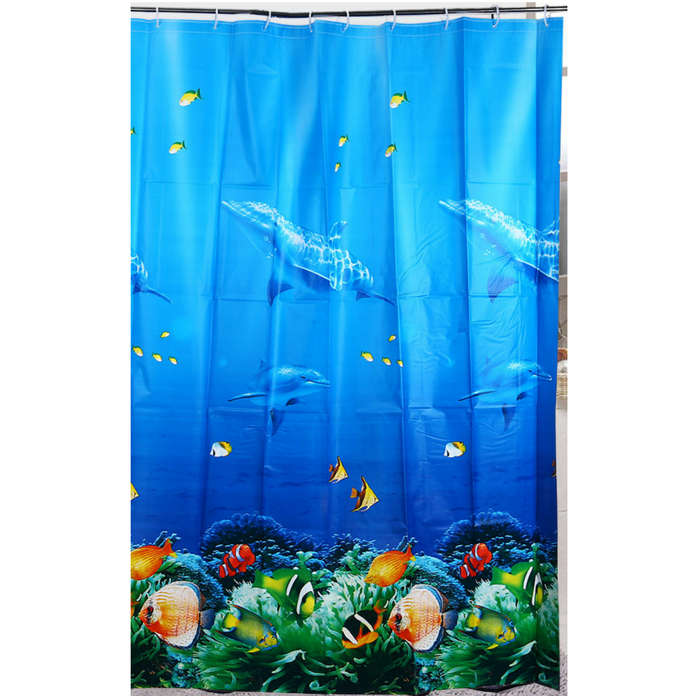 Shower Curtain Polyester Waterproof Underwater Sea World