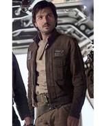Star Wars Rogue One Captain Cassian Andor Diego Luna Brown Jacket High Q... - $99.99