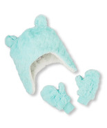 Toddler Girl Mint Faux Fur Hat & Mittens Set/The Children's Place/NWT - $15.97 CAD