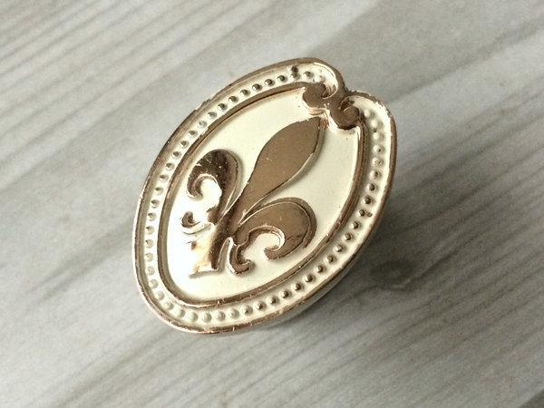 Fleur De Lis Dresser Knobs White Gold Drawer Pulls Handles Cabinet Door Knobs  image 3