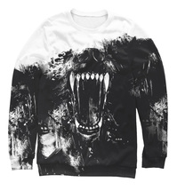 "Fashion Mens Full Printed 3D Sweatshirt All Sizes XS - 5XL ""Wolf"" - $39.95"