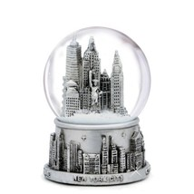 Medium Silver New York City Snow Globe 3.5 Inch... - $18.79