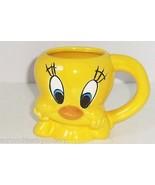 Tweety Bird Coffee Mug 1996 Cup Looney Tunes Warner Bros Bright Yellow V... - $19.97